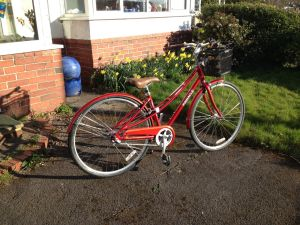 Her bike