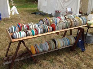 Camp plate rack