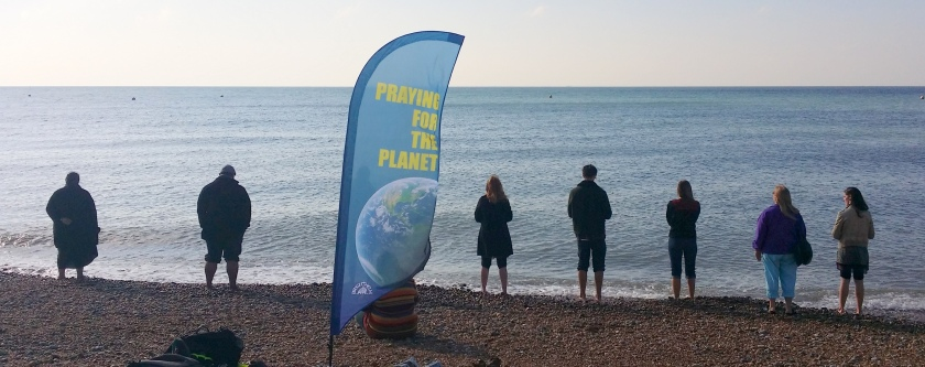2015.10.01 Praying for planet. Brighton beach 2