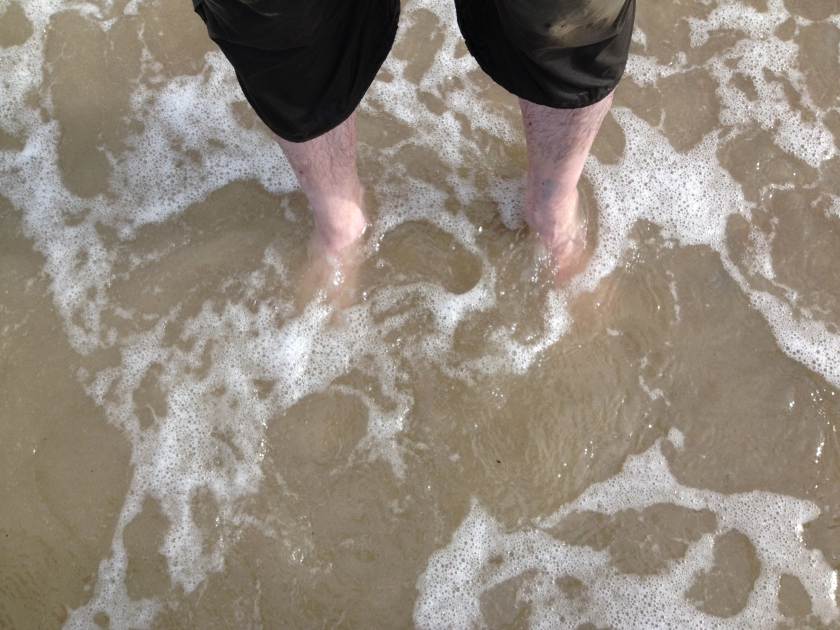 My feet in the sea